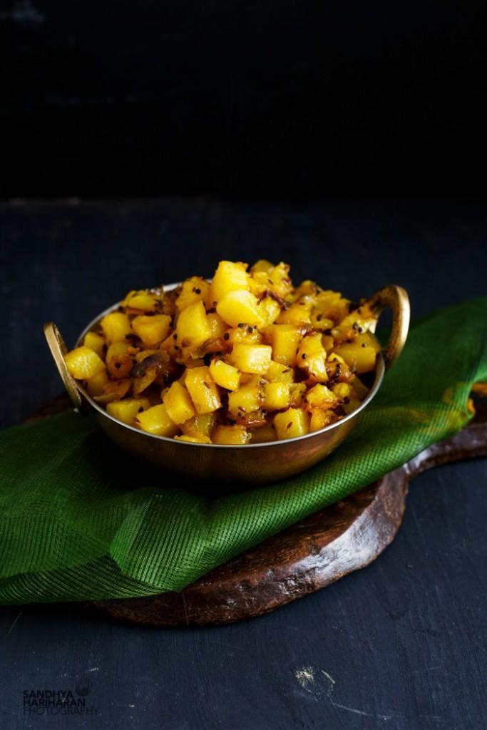 Easy Potato Curry   Dry Aloo ki Sabji - South Indian Style