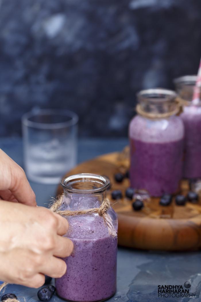 Blueberry Coconut Milk Smoothie