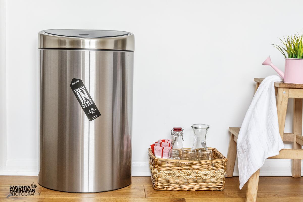 review brabantia 39 s fingerprintproof touch bin sandhya 39 s kitchen. Black Bedroom Furniture Sets. Home Design Ideas