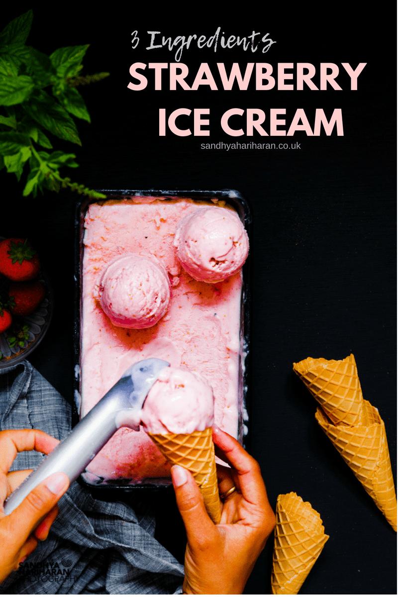easy homemade strawberry ice cream