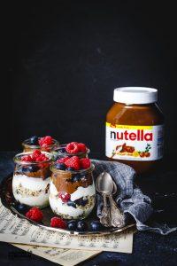 NUTELLA BIRCHER MUESLI YOGURT PARFAIT