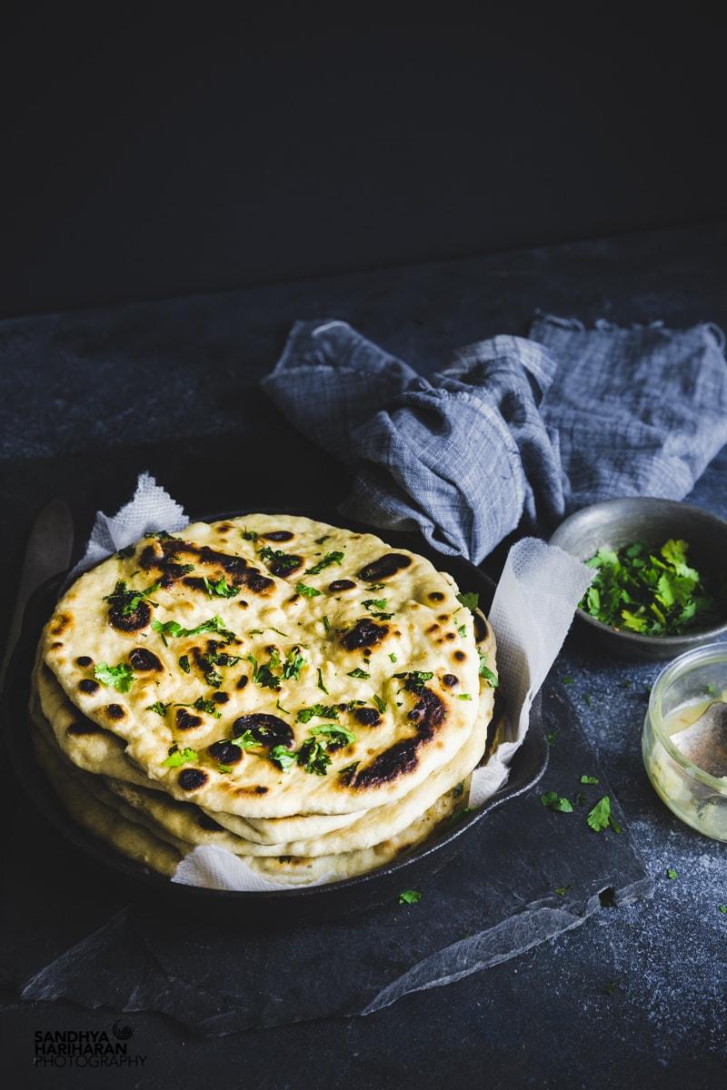 Instant Garlic Naan