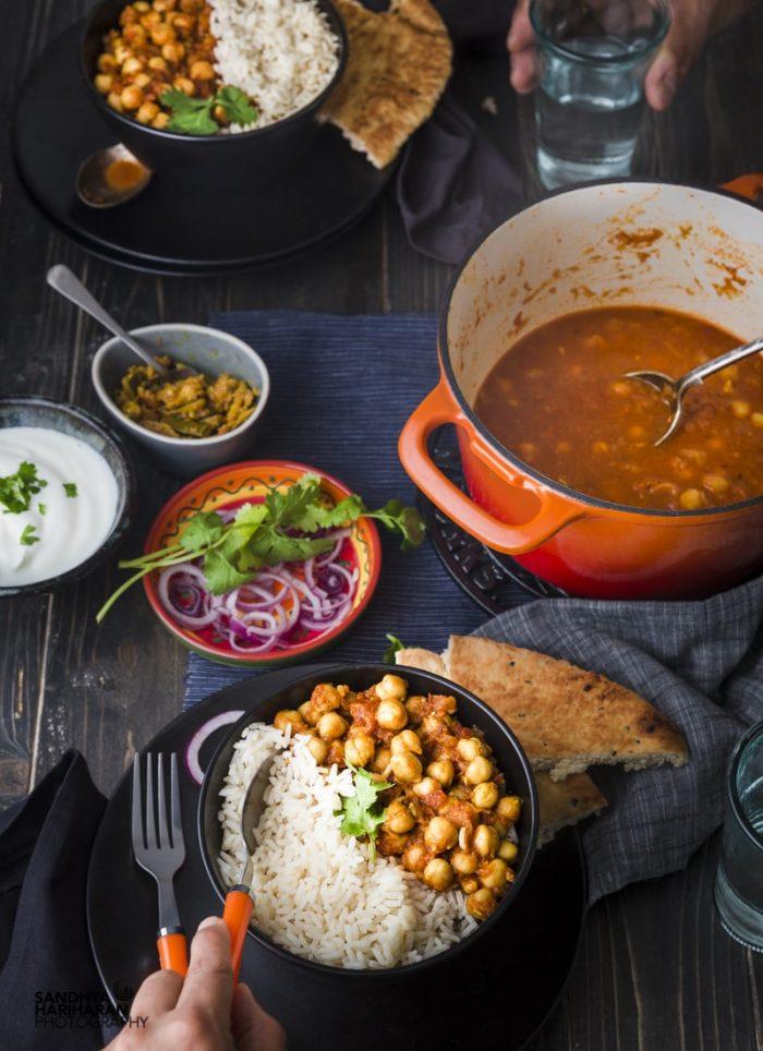 quick an easy chana masala