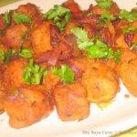 Dry Soya Chunks Curry