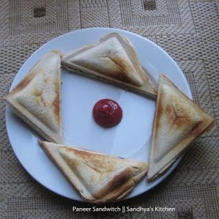 Paneer(Indian Cottage Cheese) Sandwich Toastie