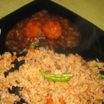 Veg Ball Manchurian with Veg Fried Rice
