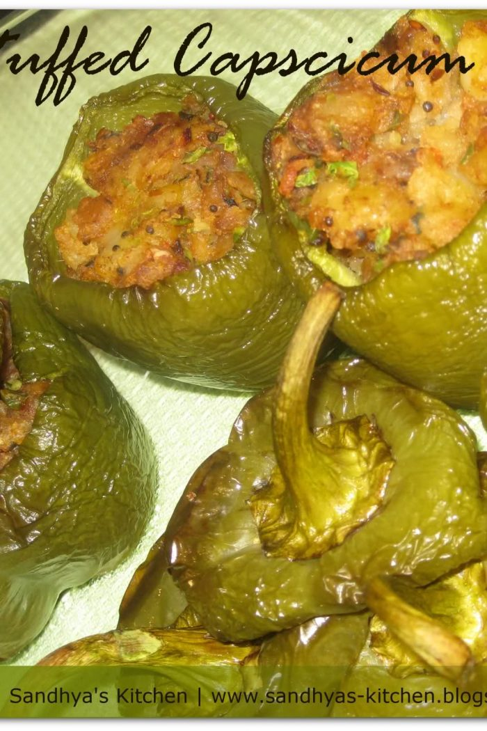 Baked Stuffed Pepper/Capsicum – Bharwa Shimla Mirch
