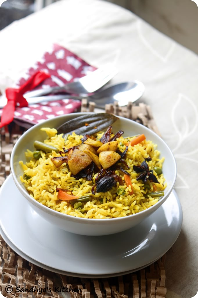 Vegetable Biryani #rice