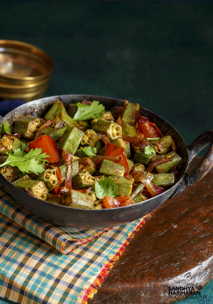 Homestyle Bhindi Sabzi | Okra Masala  and A Book Review – The Cafe Spice Cookbook #review #home