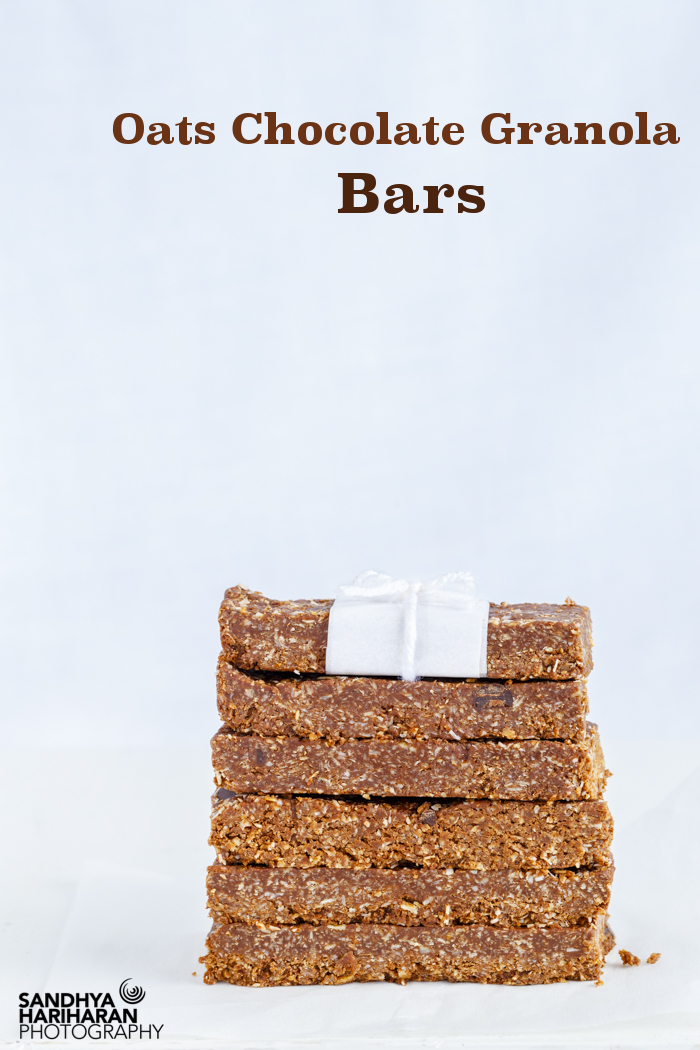 No Bake Oats Chocolate Granola Bars with just 7 Ingredients
