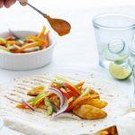 Spicy Potato Wedges Wrap #WrapinLove #Pinktober