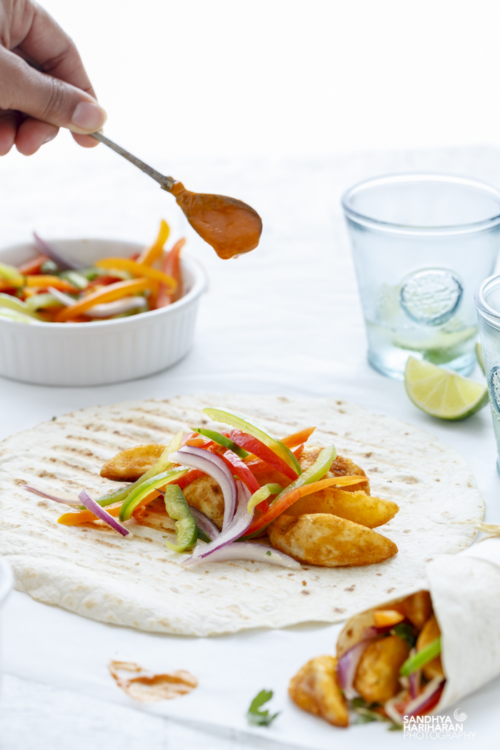 Spicy Potato Wedges Wrap