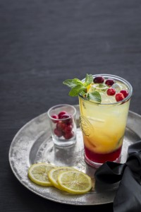cranberry mojito - holiday mocktail