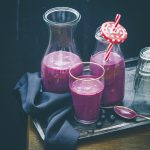 blueberry mango oatmeal smoothie recipe image