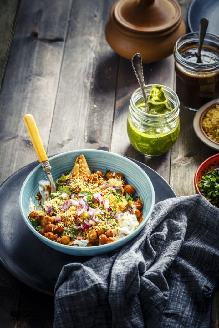 Samosa Chole Chaat