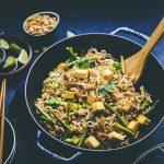 Pad Thai Noodles with Tofu, Asparagus & Soya Beans