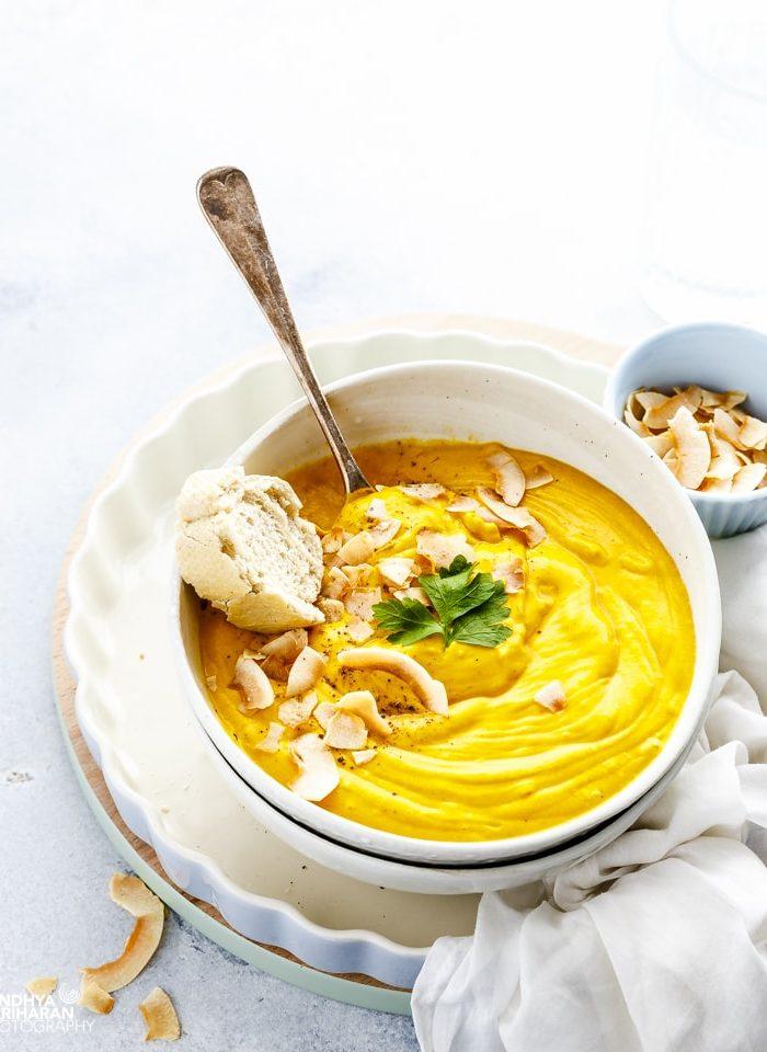 Roasted Pumpkin Coconut Soup