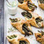 Halloumi Asparagus Puff Pastry with Rosemary Aioli