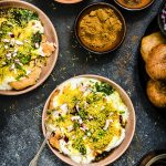 Dahi Aloo Tikki Chaat  { Yogurt & Potato Cakes Indian Streetfood }