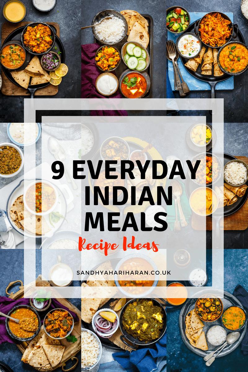 9 Everyday Indian Meals Recipe Ideas | Vegetarian Indian Thali Menu