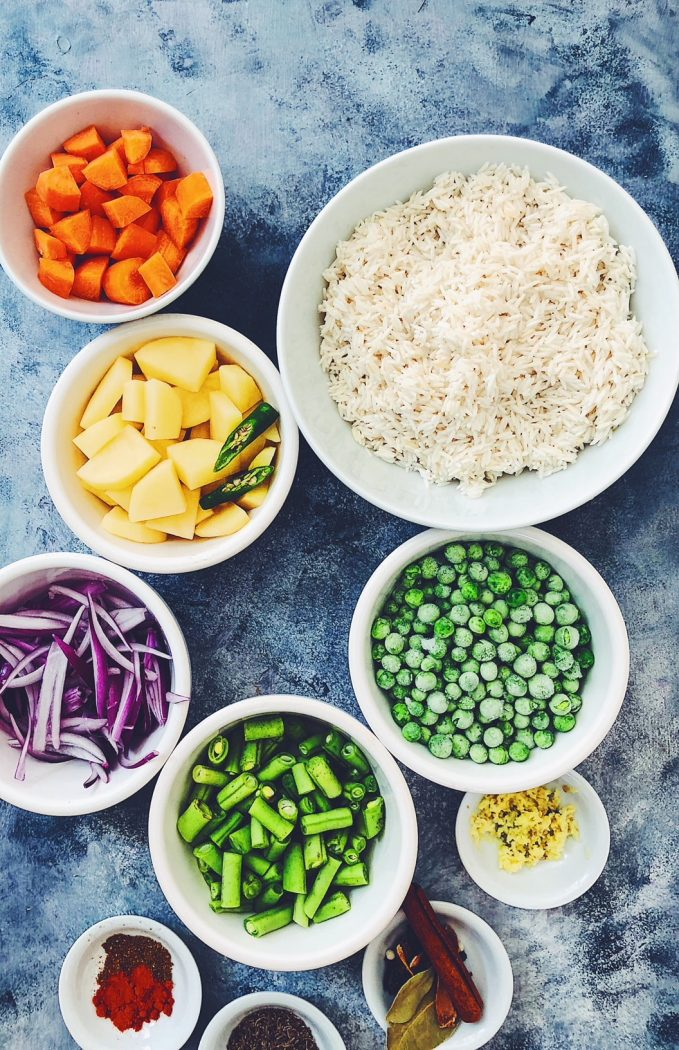 Instant Pot Vegetable Pulao Rice