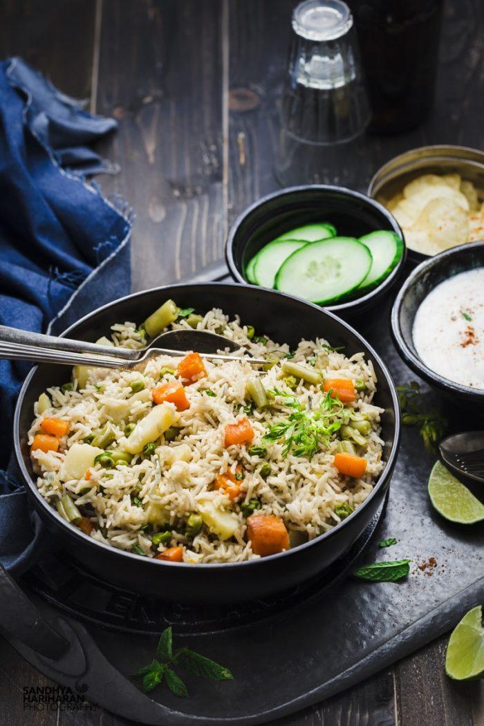 Instant Pot Vegetable Pulao Rice Recipe