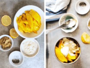 Ingredients for Mango Mustard Dipping Sauce