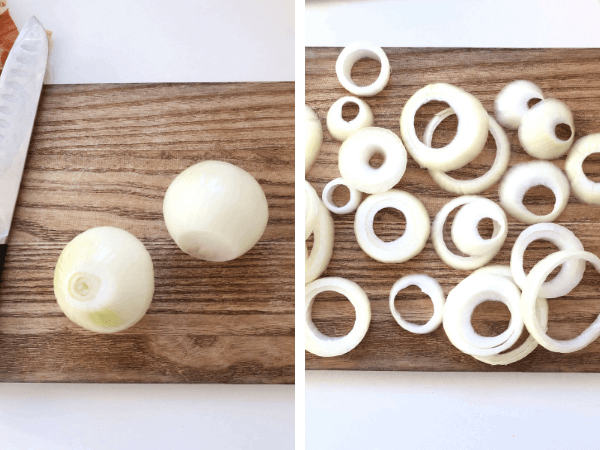 airfryer onion rings step by step