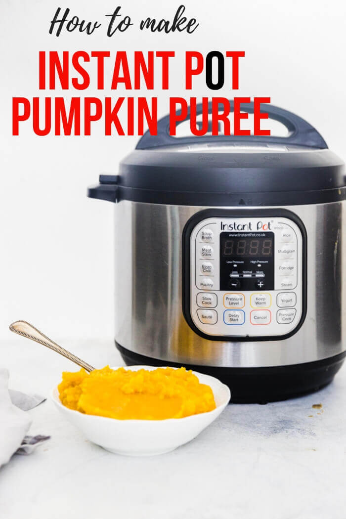 How to make Pumpkin Puree {Instant Pot & Oven Method} + Video Tutorial