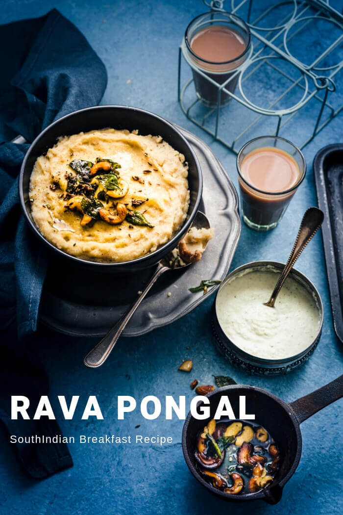 SouthIndian Breakfast - Rava Pongal Recipe